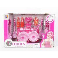 Kuchnie dla dzieci, Kuchenka + akcesoria w kropki