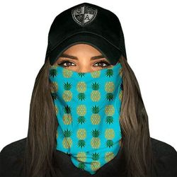 SA Co. Chusta Wielofunkcyjna Face Shield™ Pineapple Turquoise - Pineapple Turquoise