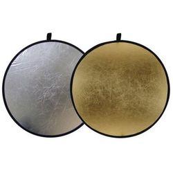Blenda okrągła 2w1 złoto-srebrna 110cm