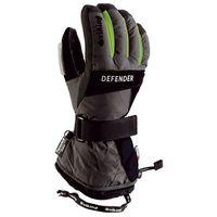 Odzież do sportów zimowych, Rękawice zimowe Snowboard Defender - czarno-zielony viking (-20%)