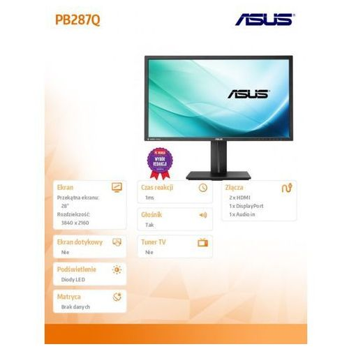 Monitory LED, LED Asus PB287Q