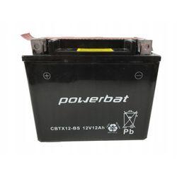 Akumulator motocyklowy POWERBAT CBTX12-BS / YTX12-BS 12V 10Ah 180A L+