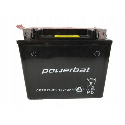 Akumulatory do motocykli, Akumulator motocyklowy POWERBAT CBTX12-BS / YTX12-BS 12V 10Ah 180A L+