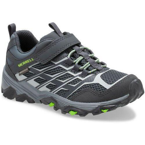 Trekking, Merrell Moab FST Low A/C Waterproof Shoes Kids, storm EU 29 2021 Buty turystyczne