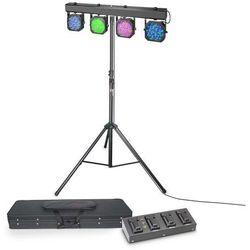Cameo Multi PAR 1 SET - Zestaw oświetleniowy 432 x 10 mm LED z walizką transportową, poczwórnym pedałem i statywem Płacąc przelewem przesyłka gratis!