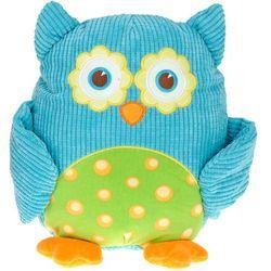 Przytulanka sowa, miękka zabawka, niebieska, 28 cm