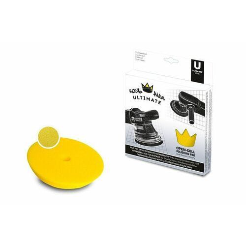 Gąbki samochodowe, Royal Pads ULTRA Cut 150mm żółta otwarto-komórkowa pianka dla maszyn DA i rotacyjnych - 2stopień cięcia