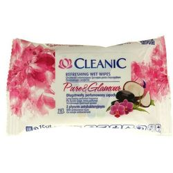 Chusteczki odświeżające Cleanic Pure and Glamour z płynem antybakteryjnym (15 sztuk)