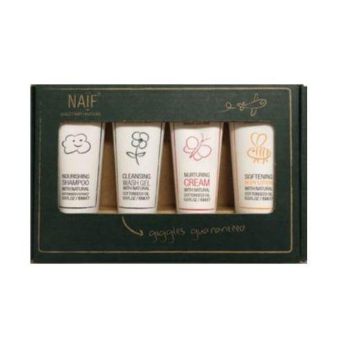 Balsamy i emulsje dla dzieci, NAIF Box Travel Zestaw kosmetyków dla niemowląt i dzieci 100% naturalne