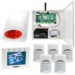 System alarmowy Ropam Optimagsm-PS + 5x Czujka PIR Bosch + Sygnalizator