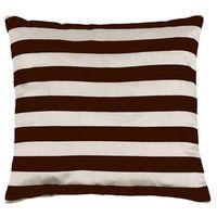 Poduszki, Bellatex Poduszka - jasiek Leona – paski kremowy, brązowy, 45 x 45 cm
