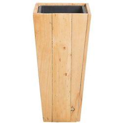 Doniczka drewniana prostokątna 24 x 24 x 50 cm LARISA