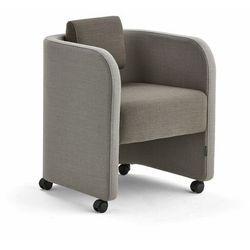 Fotel COMFY, na kółkach, wełna, piaskowy/brązowy