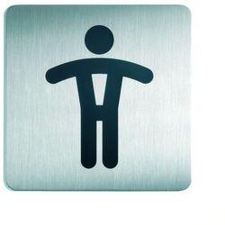 Oznaczenie toalet metalowe kwadratowe - WC MĘSKI
