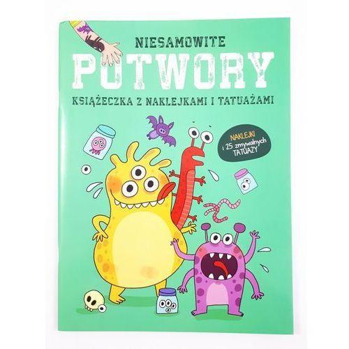 Książki dla dzieci, Książeczka z naklejkani i tatuażami - Potwory (opr. broszurowa)