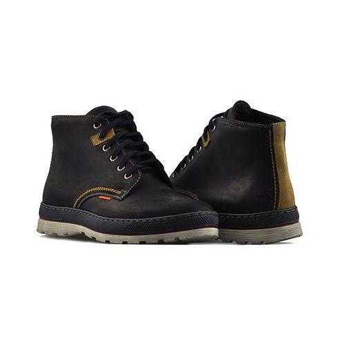 Pozostałe obuwie męskie, Trzewiki Rammit 820/2 CH03 Czarne