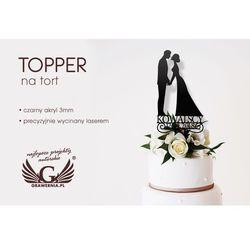 Topper na tort ślubny - figurka - TOP032