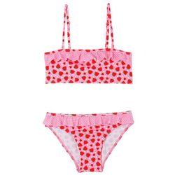 Bikini dziewczęce (2 części) bonprix jasnoróżowy - truskawki
