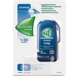 NICORETTE COOLMINT 4mg x 20 tabletek do ssania