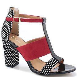 TYMOTEO 17603 CZARNE - Sandały z modnym wzorem - Czarny ||Czerwony DZIEŃ CZEKOLADY - 20% (-25%)