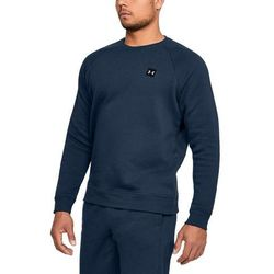 Under Armour Bluza bez kaptura RIVAL FLEECE CREW Granatowa - Granatowy