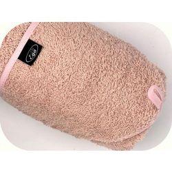 Różowe okrycie kąpielowe 75x75 ręcznik z kapturkiem Ega