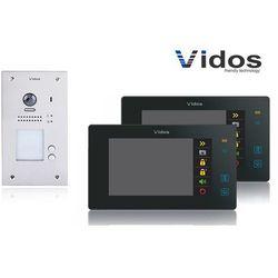 Zestaw cyfrowy wideodomofon dwurodzinny VIDOS S1202A_M1021B czarny
