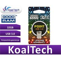 Flashdrive, GOODRAM FLASHDRIVE 32GB USB 3.0 POINT SILVER