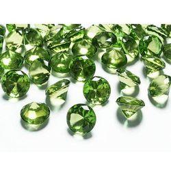 Diamentowe konfetti - jasnozielone - 20 mm - 10 szt.