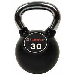 Hantla gumowana inSPORTline Kettlebell 30 kg
