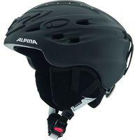 Kaski i gogle, ALPINA SCARA BLACK STRASS - kask narciarski R. 52-56 cm