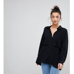 ASOS DESIGN TALL Oversized Utility Shirt - Black