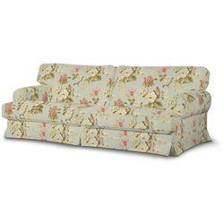 Dekoria Pokrowiec na sofę Ekeskog nierozkładaną, duże kwiaty na jasno-błękitnym tle, Sofa Ekeskog nierozkładana, Londres