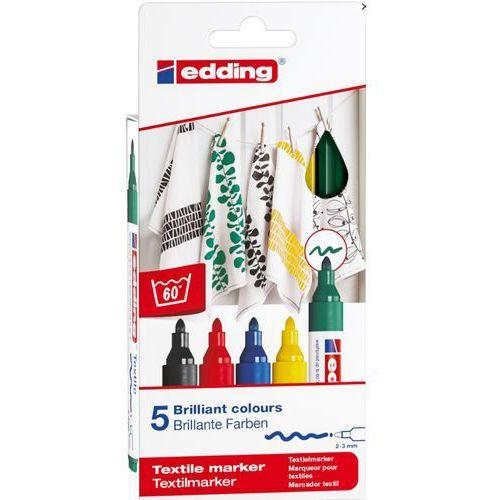 Markery, Markery edding do tkanin (4500/5S ED). 5 kolorów