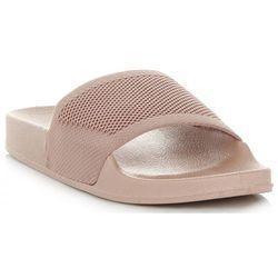 Casualowe Klapki Damskie na co dzień marki Ideal Shoes Beżowe (kolory)