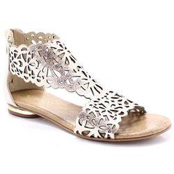 TYMOTEO 2699 MIEDŹ - Płaskie sandały ażurowe - Różowy ||Złoty WYPRZEDAŻ -40% (-40%)