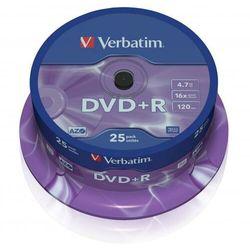 Płyta DVD+R Verbatim 4.7GB Cake 25szt.