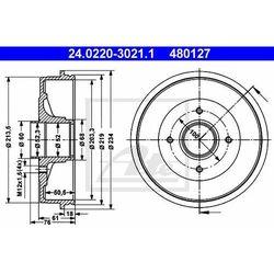 BĘBEN HAM ATE 24.0220-3021.1 RENAULT 19 II 1.7 107KM 92-94, 1.9D 64KM 92-95