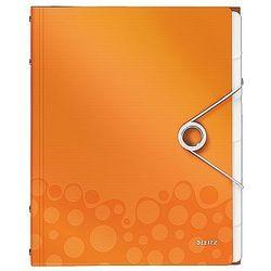 Teczka segregująca Leitz WOW, 6 przekładek metaliczna pomarańczowa 46330044