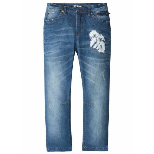 """Spodnie dziecięce, Dżinsy ze stretchem Regular Fit Tapered bonprix niebieski """"stone"""