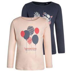 Name it MINI NMFVEEN BOX 2 PACK Bluzka z długim rękawem peachy keen/ dress blues