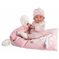 Lalki dla dzieci, Lalka 73860 bobas Nica na różowym kocyku 38cm