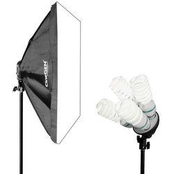 Lampa światła stałego SOFTBOX 60x60cm 4x 85W 230cm