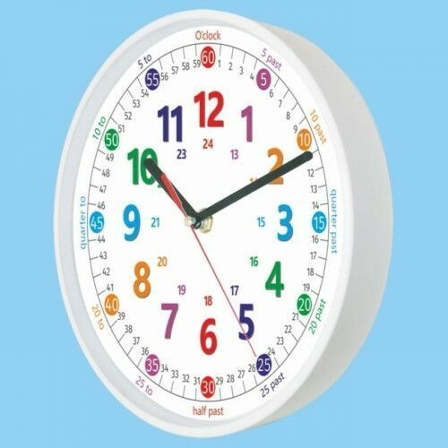 Zegary, Zegar biały do nauki odczytu czasu ENG