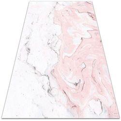 Nowoczesna wykładzina tarasowa Nowoczesna wykładzina tarasowa Biało-różowy marmur