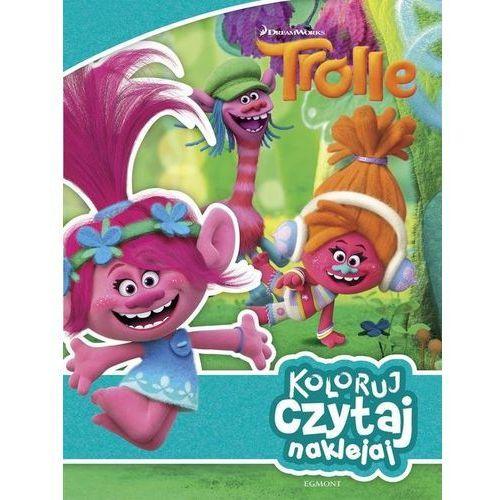 Książki dla dzieci, Trolle. Koloruj, czytaj, naklejaj (opr. broszurowa)