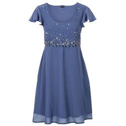 Sukienka szyfonowa bonprix niebieski