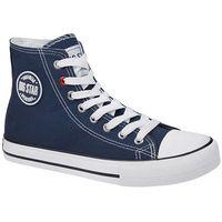 Damskie obuwie sportowe, Kultowe Trampki BIG STAR T274025 Granatowe - Granatowy ||Biały