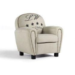 Fotel klubowy WINSTON tkaniny - Beżowy