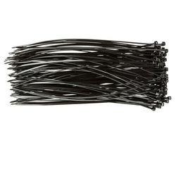 Opaski zaciskowe, Zipy, trytki Topex 2.5 x 200 mm, 100 szt., czarne
